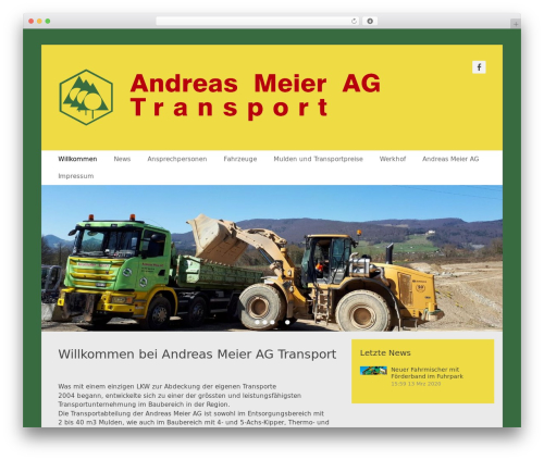 Catch Base Pro WordPress page template - andreasmeier-transport.ch