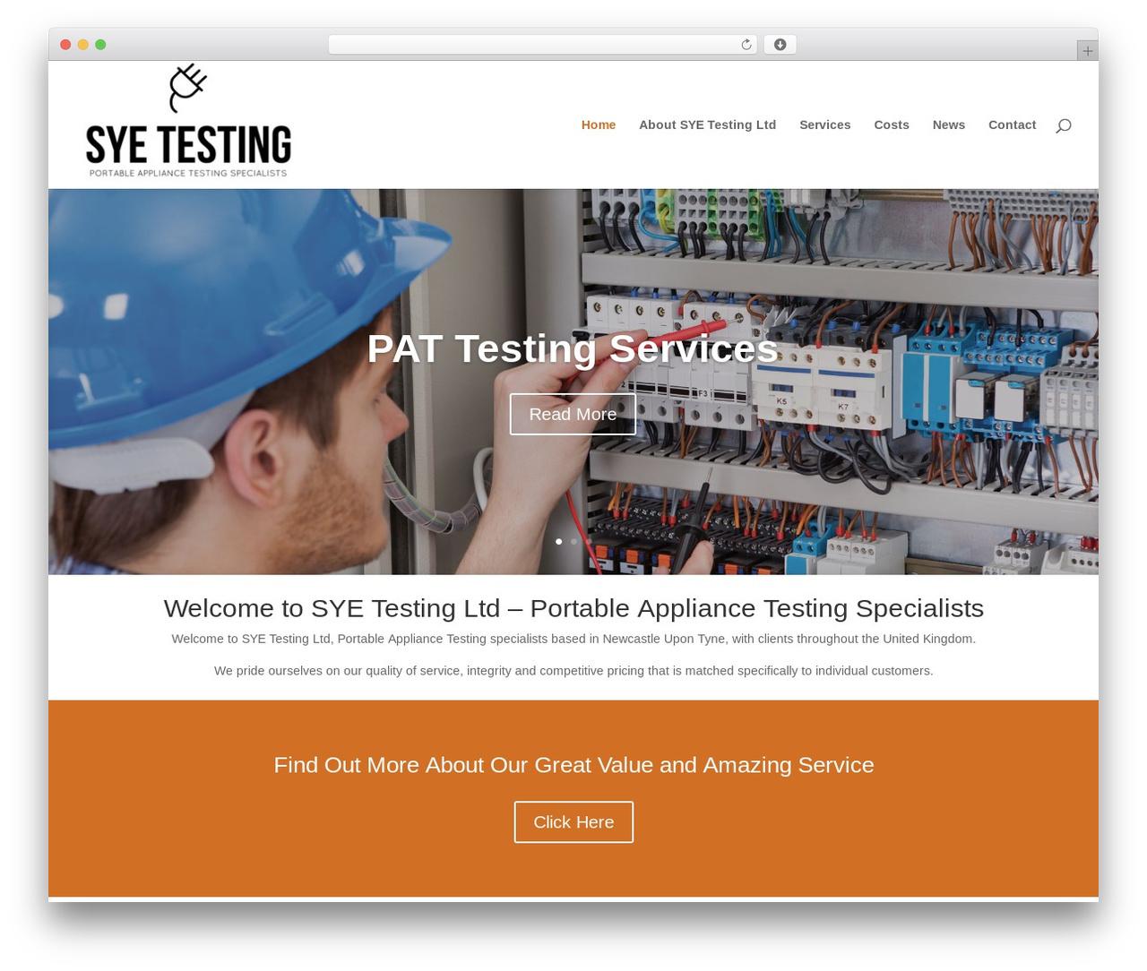 Divi theme WordPress - sye-testing.com