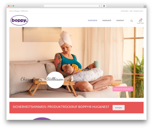 Milo Bibo theme WordPress - boppy.ch
