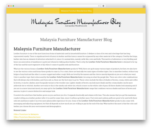 Sean Lite free WordPress theme - furnituremanufacturers.com.my