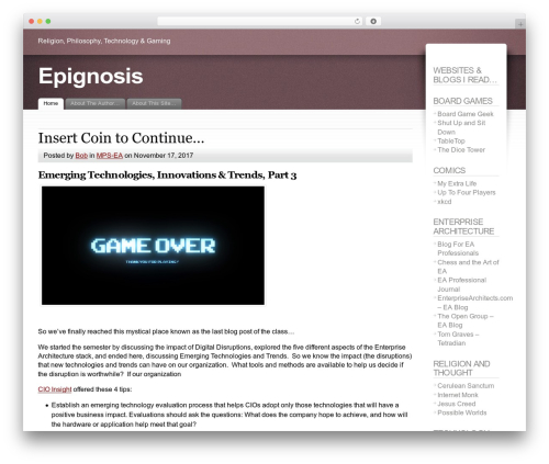 WordPress website template Fusion - epignosis.info