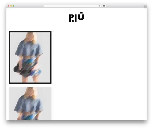 Aesthetic Child WordPress theme - piu-magazine.com