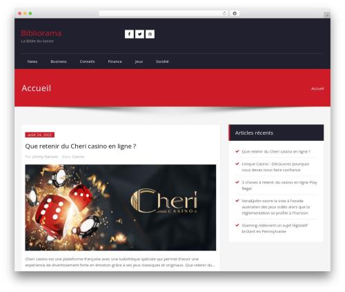 Rockers theme WordPress - bibliorama.fr