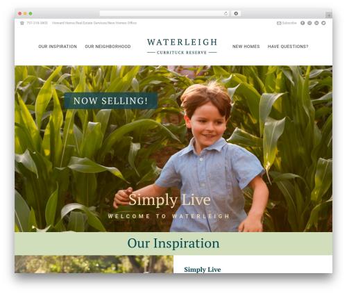 Theme WordPress Jupiter - waterleighnc.com