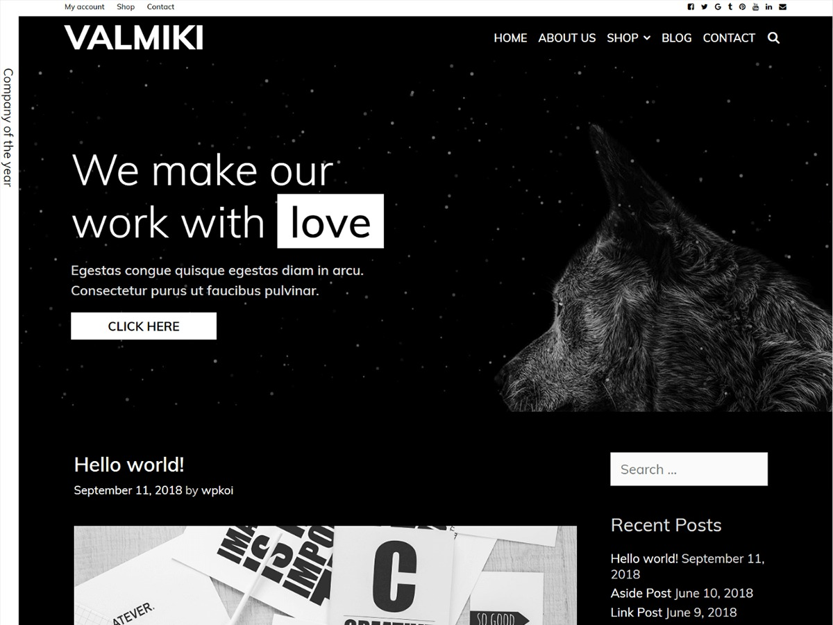 Valmiki WordPress ecommerce template