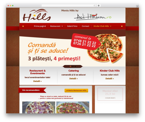 Bordeaux Premium Theme best restaurant WordPress theme - restauranthills.ro