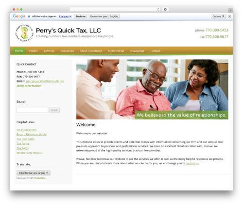 Customized template WordPress - perrysquicktax.net