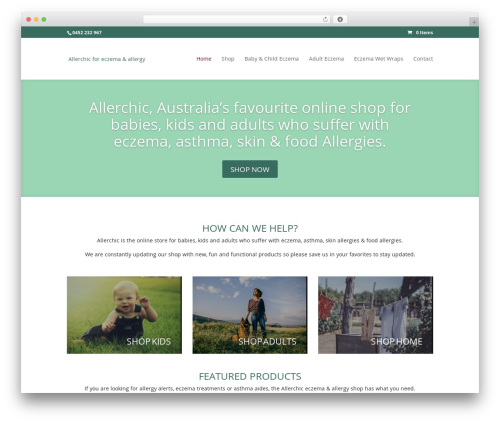 Divi WordPress template - allerchic.com.au