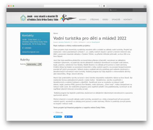 Inspire WordPress page template - zlataorlice.net