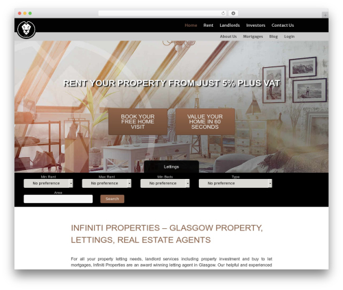 jellyprops real estate WordPress theme - infinitiproperties.com