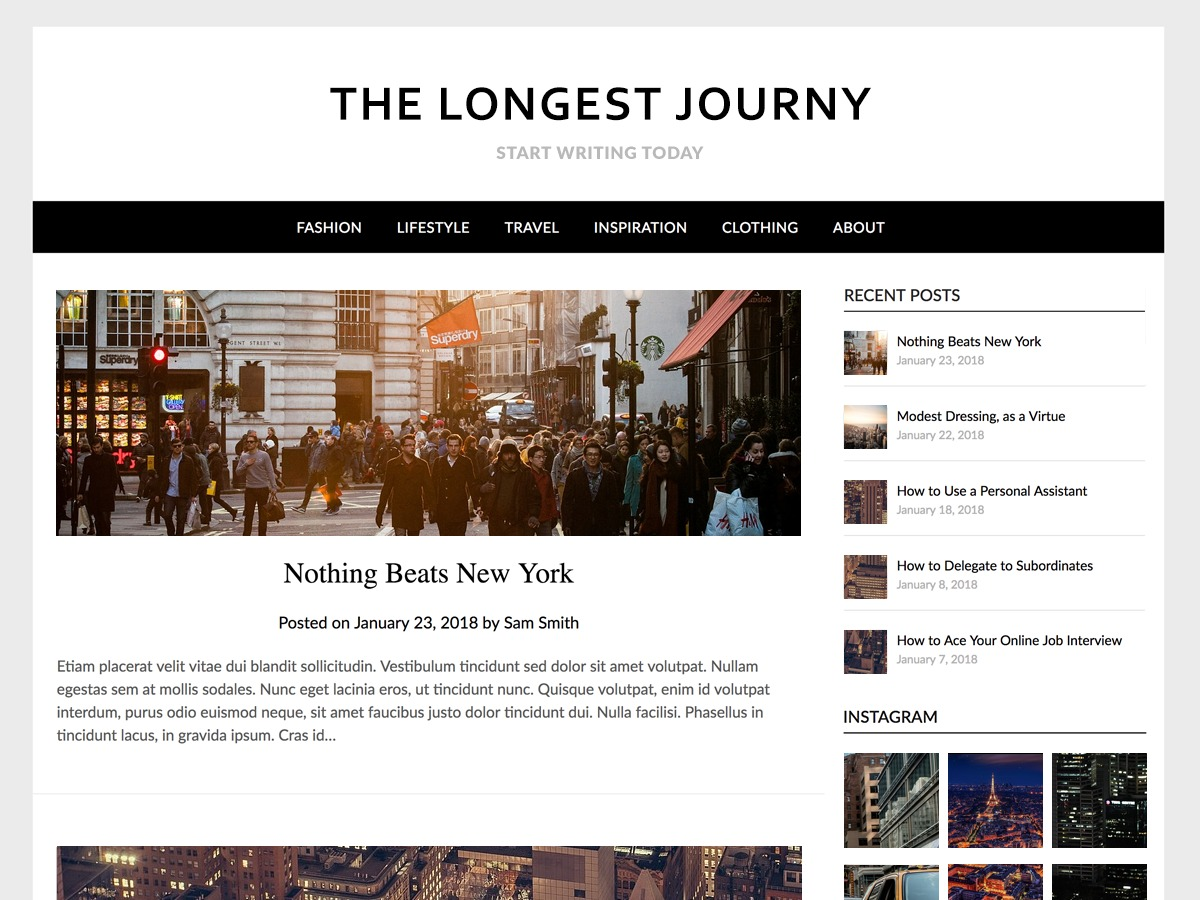 Simple ResponsiveBlogily business WordPress theme