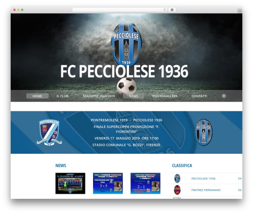 The7 WordPress theme - pecciolesecalcio.it