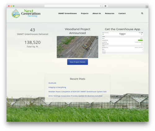 The7 WP template - nextgen.farm