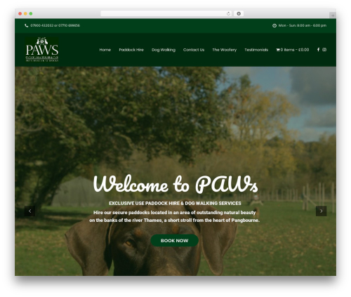 UnfinityPlus WordPress website template - pawsofpangbourne.co.uk