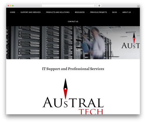 WordPress template Argent - australtech.net