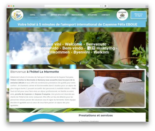 Best WordPress template BusiProf Pro - hotel-lamarmotte.com