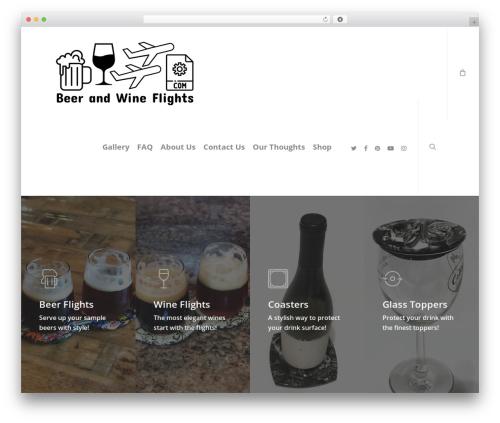Best WordPress theme Salient - beerandwineflights.com