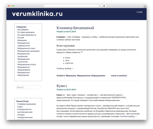 eyesite best free WordPress theme - verumklinika.ru