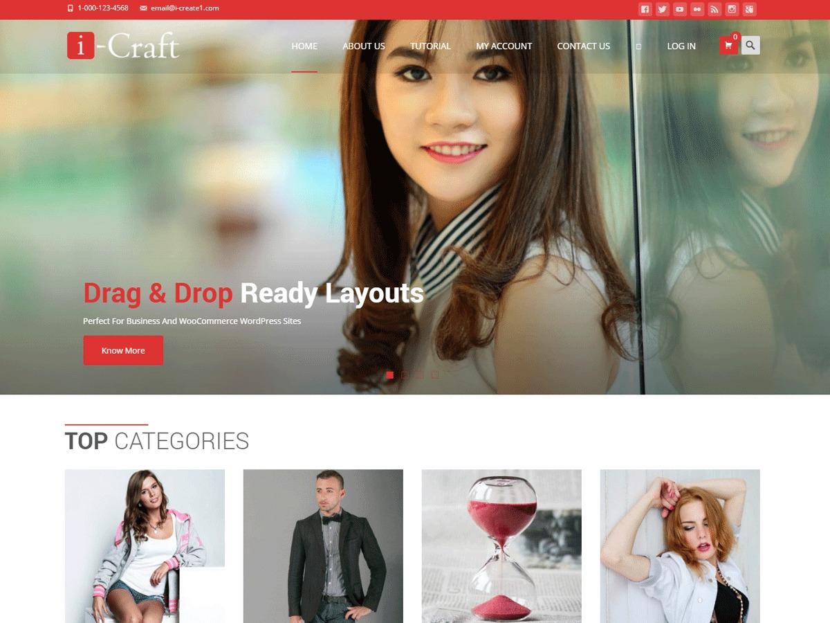 i-craft WordPress shop theme