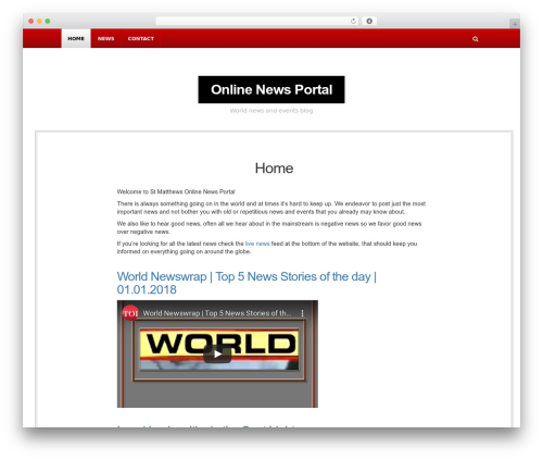 NewsBlog WordPress magazine theme - stmatthew-ucc.org