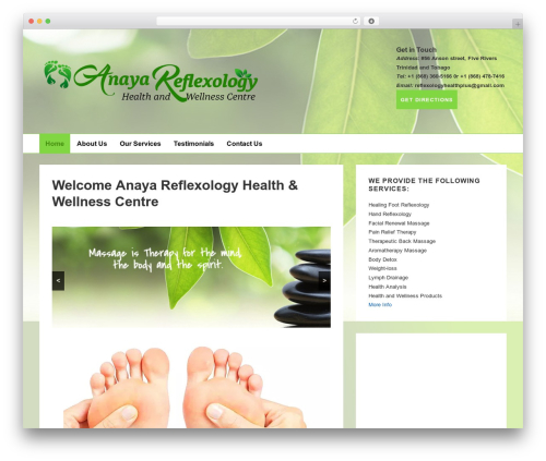 Responsive free WP theme - reflexologyhealthplus.com