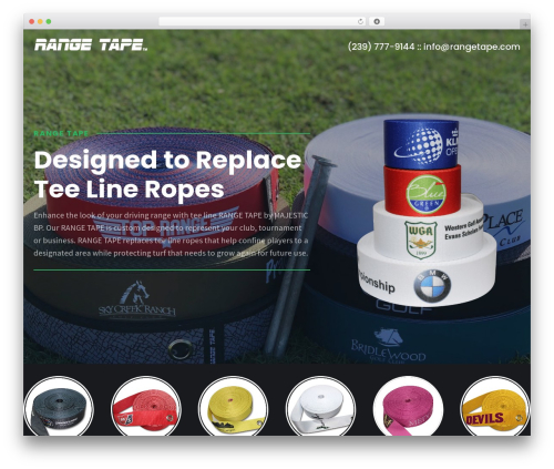 Shopscape WordPress shopping theme - rangetape.com