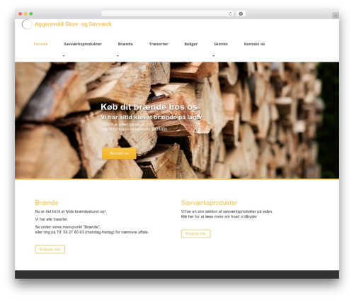 Sparkling free WordPress theme - aggersvoldsav.dk