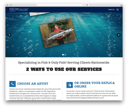 The7 WordPress page template - fishspecialties.net