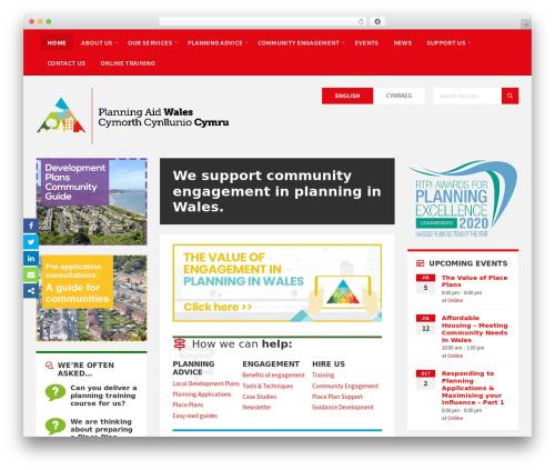 Theme WordPress TownPress - planningaidwales.org.uk