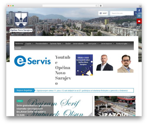 TownPress WordPress theme - novosarajevo.ba