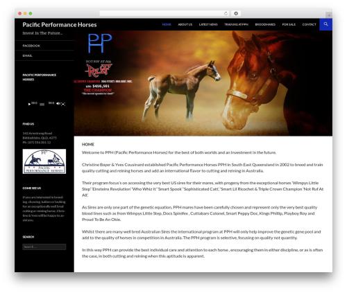 WP theme Twenty Fourteen - pacificperformancehorses.com