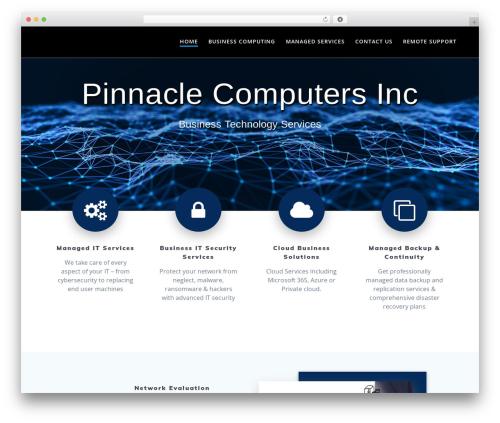 Mesmerize PRO business WordPress theme - pinnaclecomputers.ca