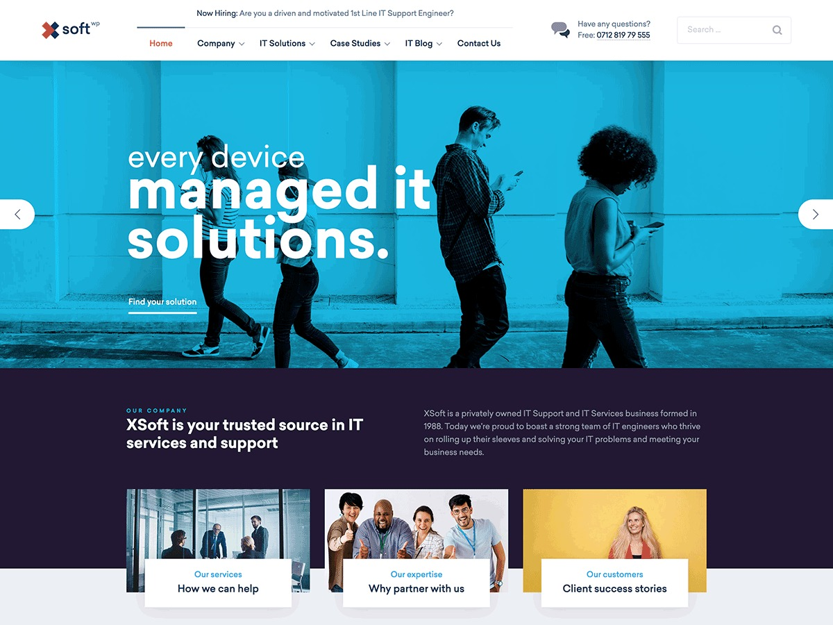 Nanosoft premium WordPress theme