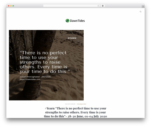 Theme WordPress Mauer Essentialist - dawntides.com