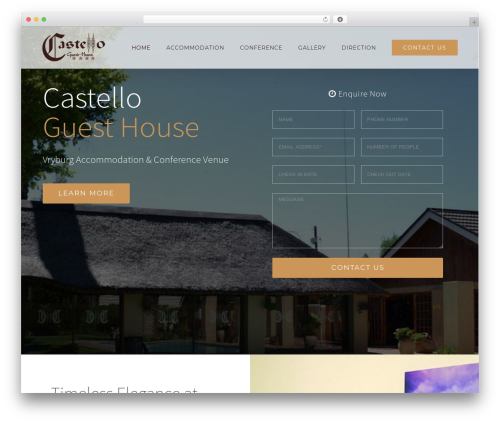 Avada WordPress theme design - castelloguesthouse.co.za