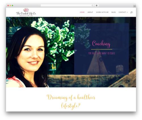 Divi WordPress theme - thecreatedlifeco.com