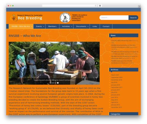 Education Hub WordPress website template - beebreeding.net