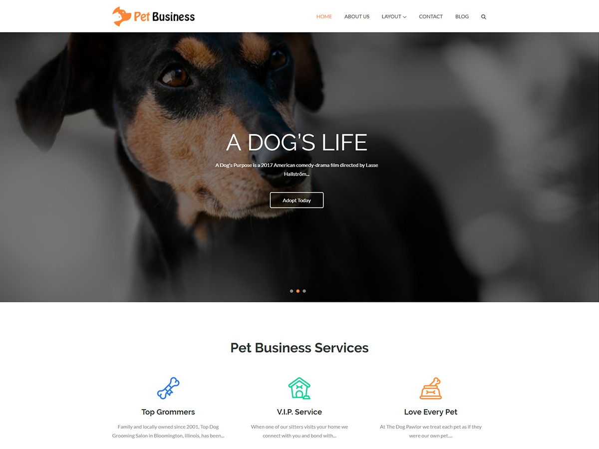 Pet Business WordPress shopping theme