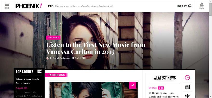 Phoenix Today WordPress news template