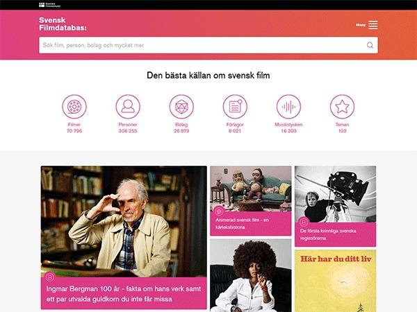 Theme WordPress Svensk Filmdatabas
