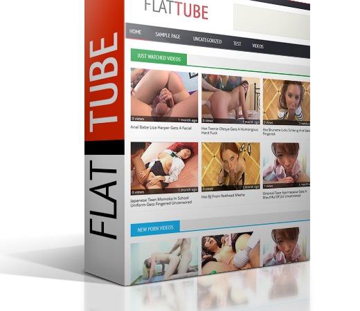 WordPress theme Flat Tube for wpXtube
