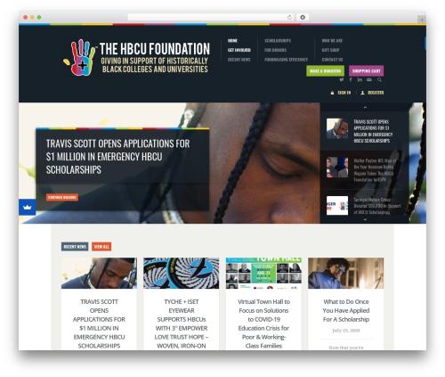 Biosphere top WordPress theme - hbcufoundation.org