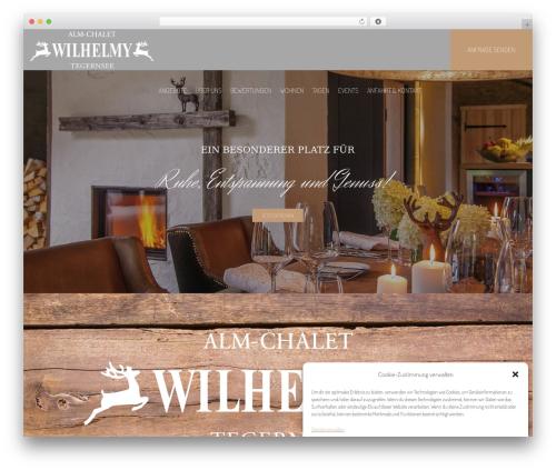 Hotel LUX WordPress theme - alm-chalet.com