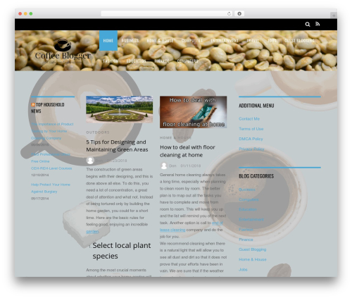 Magazine WordPress theme - coffeeblogger.net