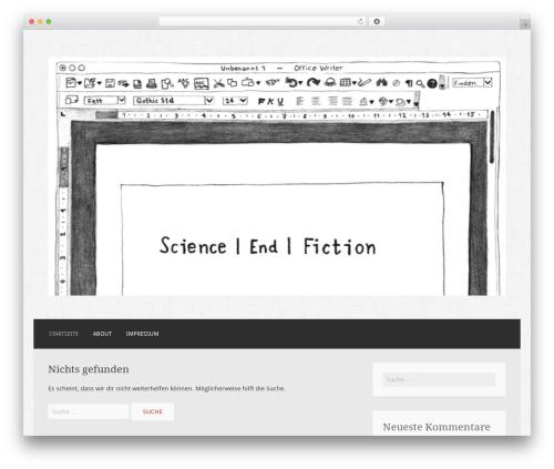 Motif WordPress theme - science-end-fiction.com