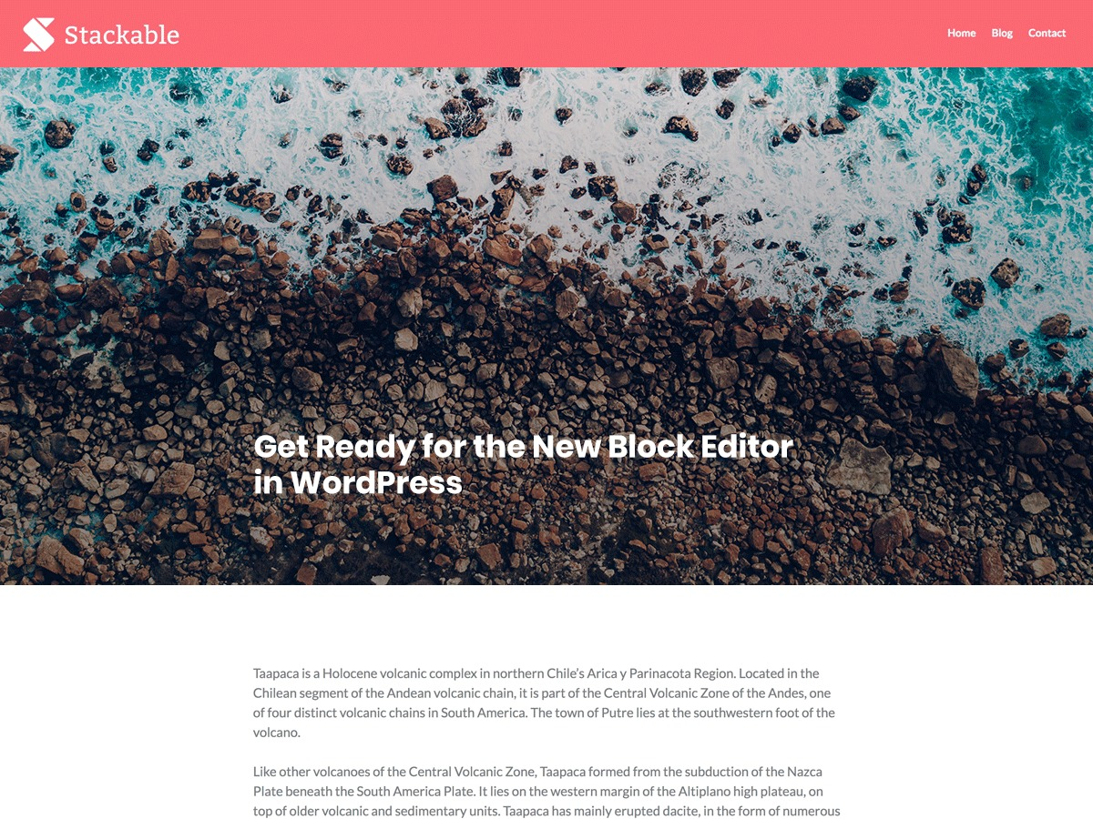 Stackable business WordPress theme