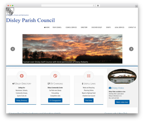 Avante FD premium WordPress theme - disleyparishcouncil.org.uk