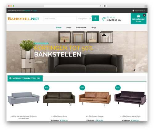 Caden WordPress page template - bankstel.net