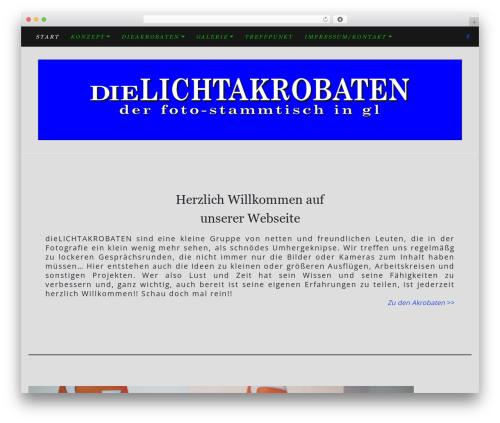 Di Blog WordPress blog template - dielichtakrobaten.de