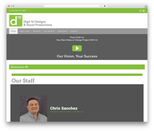 Di Business WordPress theme - digit10accounts.com
